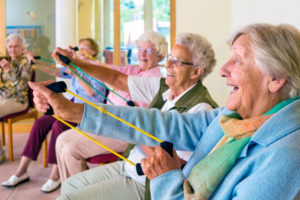 Seniors engaging in Assisted Living Facility Activities